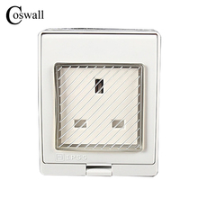 IP55 Report CE Wall Waterproof Dust-proof British Power Socket, 13A UK Standard Electrical Outdoor Outlet Grounded()