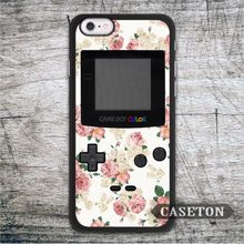 Retro Pink Flower Game Girl Case For iPhone 7 6 6s Plus 5 5s SE 5c and For iPod 5 High Quality Vintage Classic Cover