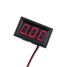 4.5-30V DC Car Motor Red LED Digital Voltmeter Gauge Volt Voltage Panel Meter LED Displays Free shipping