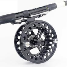 world-wind 3011# Fly Reel 3/4/5/6/7/8 WT Large Arbor Silver/Black Aluminum Fly Fishing Reel free shipping(China)