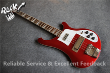 First Class Nice Ruby Red Ricken Bass 4 Strings 4003 Electric Bass Guitar Neck Through China OEM Musical Instruments