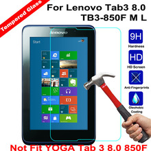 Buy XSKEMP 9H Tablet Tempered Glass Lenovo Tab3 8.0 TB3-850F M L (Not fit Yoga tab 3 8.0) Inch Screen Protector Protective Film for $2.95 in AliExpress store