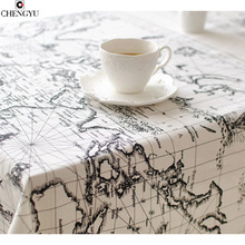 The Mediterranean Style Table Cloth Arrival Table Cloth World Map High Quality Lace Tablecloth Decorative Elegant Table Cloth