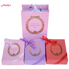 KC15 New Arrival Key chain France  Macarons Effiel Tower Keychains Birthday Mother's Gifts w Box Ribbon Handbag free shipping