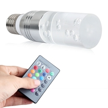 2017 New E27 3W RGB LED 16 Colors Changing Crystal Light Bulb Remote Control Energy Saving Crystal Lamp For Party Hotel Room