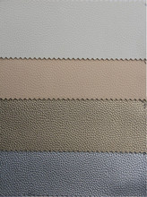30 yards Litchi grain artificial leather high quality PVC leather material fabric printed leather fabric cheap price wholesale(China)