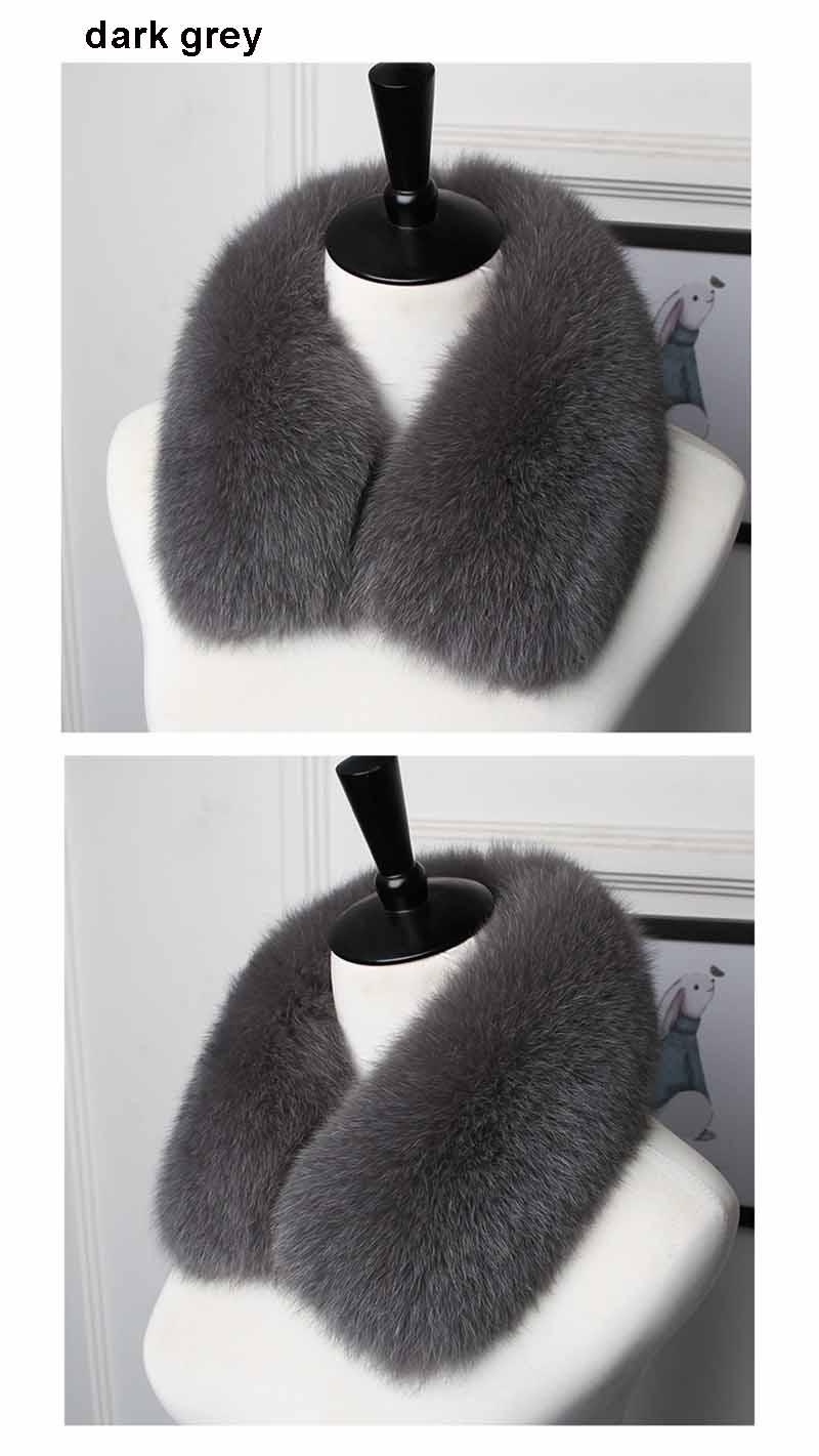 fox fur collar men dark grey 2