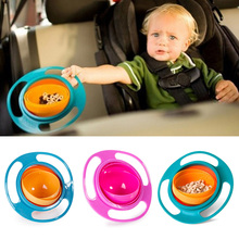 Funny Baby 360 Rotating Spill-Proof Feeding Bowl ABS Plastic Healthy Kids Non Spill Feeding Toddler Flying Saucer Bowl Wholesale