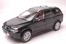 1:18 Diecast Model for Volvo XC Classic XC90 Black SUV Alloy Toy Car Collection S60