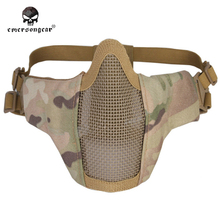 Emersongear PDW Half Face Protective MESH Mask  Airsoft Field CS Game Desert Digital Black Olive  Skull MultiCam  Black