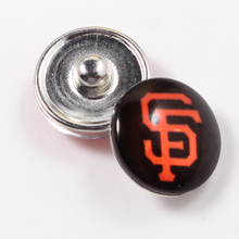 San Francisco Giants Glass Snap Buttons MLB Baseball Fans Jewelry Fit 18mm Ginger Snap Bracelet 2 Styles For Choose 10pcs