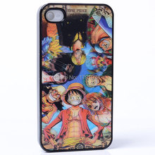 AMAZE 3D MOVIE EFFECT Straw hat Monkey D Luffy Nami team ONE PIECE PC Hard Back Shell Cover protective Case For iphone 4 4S 4G