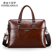 Men Leather Briefcase Bags Business Laptop Tote Bag Men's Crossbody Shoulder Bag Men's Messenger Travel Bags(China)
