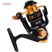 12Ball Bearings Type Fishing Reels Gear Ratio Left Right Hand Interchangeable Spinning Aluminum alloy  Reel REB-1000-7000