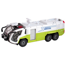 KDW 2 Colors Pumper Fire Airfield Water Cannon Truck Diecast Model Amercom Collection With Lights And Sound Miniature Toy Car(China)
