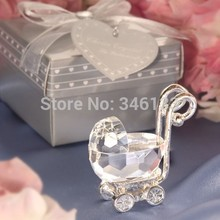 FREE SHIPPING+Baby Shower Favors Crystal Celebrations Baby Carriage Infant birth Gift Baby Christening