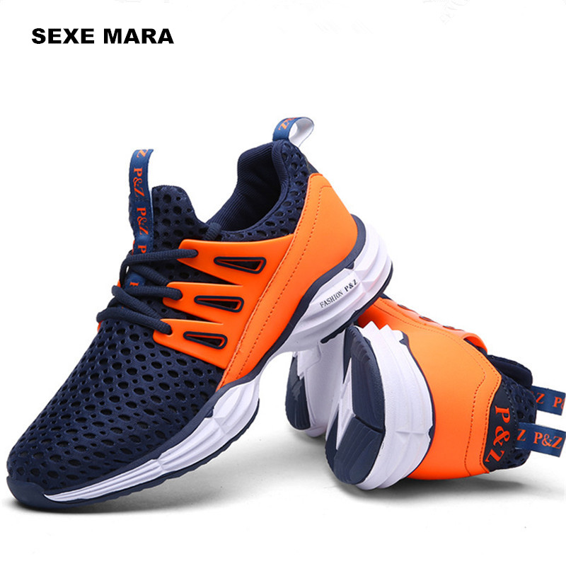 Size 36-44 2017 Sneakers men shoes Outdoor Sport shoes men Running Shoes for men Athletic Anti-skid Walking Jogging Trainers P50<br>