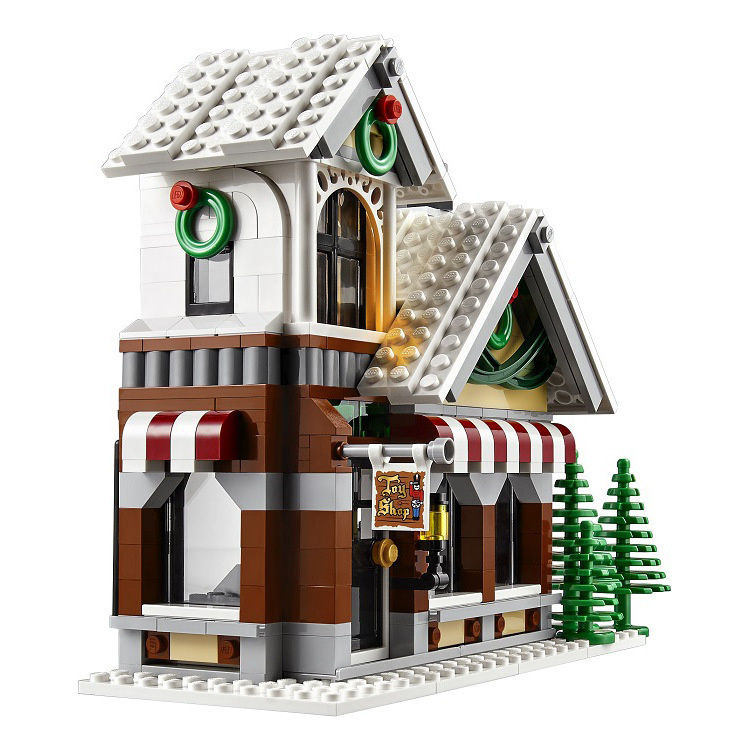 LELE 39015 945pcs  Winter Village Toy Shop Creator CHRISTMAS TREE Building Bricks Blocks Toys Compatible 10249 Brinquedo LEPIN<br>
