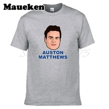 Men T-shirt 34 Auston Matthews Clothes T Shirt Men's Toronto Legend tshirt for Maple Leafs fans gift o-neck tee W17100503(China)