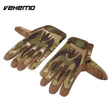 Vehemo Full Finger Leather Gloves Mitten Riding Cars Repair Protective Cover Tools(China)