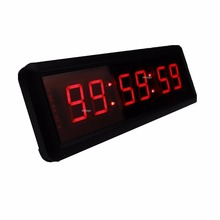 1.5inch 6Digits Wall Clock LED Countdown Clock Countdown Count Up in Hours Minutes Seconds With Remote(China)