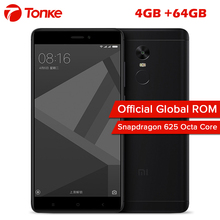 "New Xiaomi Redmi Note 4X 4GB 64GB Mobile Phone Snapdragon 625 Octa Core 5.5"" FHD 13MP Fingerprint Global Firmware MIUI 8.1(China)"