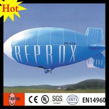 7 m 23ft blu zeppelin rc dirigibile pubblicitario dirigibile zeppelin 0.2mm incatramata del PVC esterno(China)