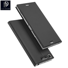 DUX DUCIS Luxury for Sony Xperia XZ1 Leather Case Wallet Flip Stand Cover for Sony XZ1 Compact Cell Phone Sleeve Coque Fundas