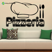 Pizzeria Wall Decal Vinyl Stickers Pizza Restaurant Interior Art Murals Decor Wall Poster Kitchen Cocina Sticker Home Poster A81
