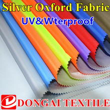 300D uv silver oxford waterproof fabric for sun shade, beach umbrella Oxford cloth