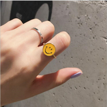 Tongbai brand Yellow smiley smile ring accessories lovely Rings for women rings female anel Jewelry girl birthday gift