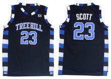 Nathan Scott 23 One Tree Hill Ravens Basketball Jersey Black(China)