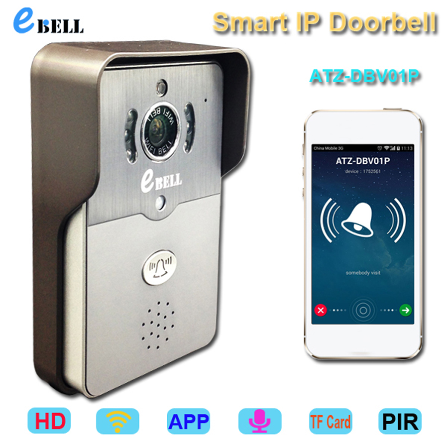 WIFI Version Mobile Remote Control 720P Motion Detection Wireless IP Doorbell<br><br>Aliexpress