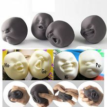 Human Face Ball Toy Adult Office Stress Relieve Novelty Toy Anti-stress Ball Toy Gift