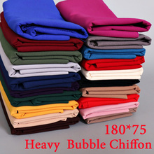 180*75cm 20 color bubble chiffon plain big bubble thick shawls hijab winter malaysia popular  scarves/scarf