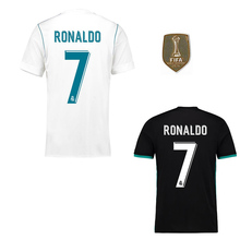 GD patches Liga 2017 Top Best Thai AAA Qualit Full Realed Madrided adult Soccer jersey 17 18 Home Away 3RD Shirt Free shipping(China)