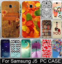 1PC/lot Love You Moon Ballon Beer Anchor Leaf Princess PC Painted Case For Samsung Galaxy J5 J500 Moblie Phone Case Cover Shell