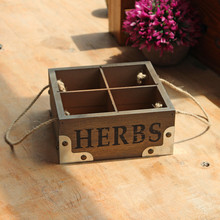 Fashion Multifunction Office Storage Boxes Plant Decorative Box Vintage Wood Organize For Garden Home Decoration