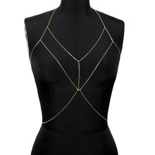 New Sexy Women Beach Bikini Crossover Body Chain Harness Necklace Chest Jewelry