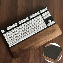 Natural Black Walnut Wood Rest Keyboard Protection Wooden Wrist Rest Pad Anti-skid Pad Hand Pad for 60 Key For Gaming Keyboard(China)