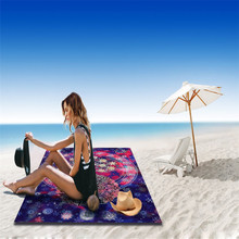 2017 New Camping Towel Bikini Wall Hanging Tapestry Wall Bedspread Beach Towel Mat Blanket Table serviette de plage