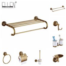 Antique Bronze Bathroom Accessories Set Bath Shower Shelves Soap Holder Towel Holder Toilet Paper Holder Robe Hook