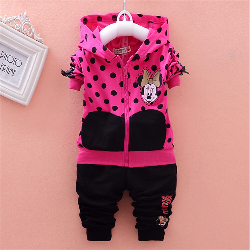 baby girls clothing sets cartoon 2015 spring/autumn childrens wear cotton casual tracksuits kids clothes sports suit hot sale<br><br>Aliexpress