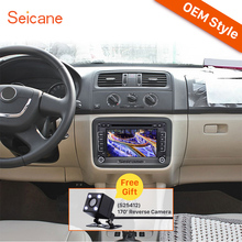 Seicane 2 Din Universal Radio DVD Player GPS Head Unit for 2004-2013 Skoda FABIA Bluetooth Phone USB SD Support Aux IPOD RDS(China)