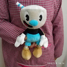 Free Shipping 1 piece 25cm Game Cuphead Plush Toys Doll For kids Gifts&birthday(China)