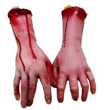 1pc Scary Broken Hand Blood Horror Halloween Decoration Severed Bloody Simulate Hand Novelty Dead Broken Hand Gadgets GYH