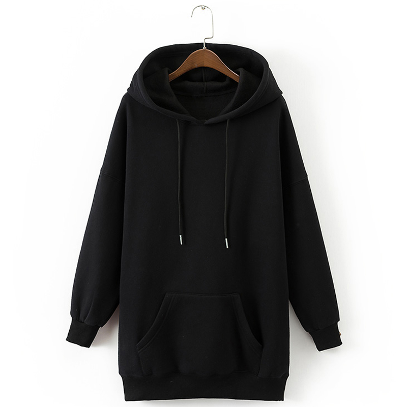 Autumn Winter Hoodies Women Hooded Sweatshirt Long Sleeve Pocket Casual Black Oversized Hoodie Sudadera Mujer (15)