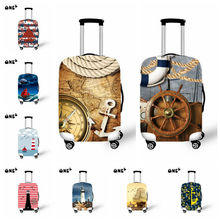 Newest  Voyage Design Luggage Protective Cover For 18-30Inch Suitcase Elastic Travel Luggage Dust Covers Ocean Ship/Animal Cover