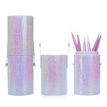 1 Pc Mermaid Fish Scale Brush Holder Storage Case Bag Cosmetic Pen Organizer Makeup Nail Art Tools(China)