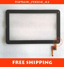 "New arrivals 10.1"" VISUAL LAND touch digitizer touch screen TOPSUN_F0004_A1"